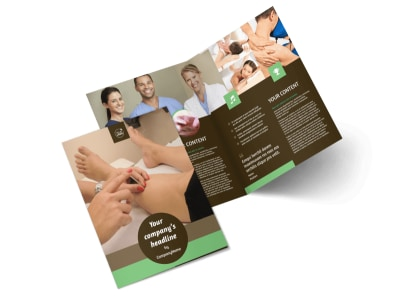 Acupuncture Clinic Bi-Fold Brochure Template 2