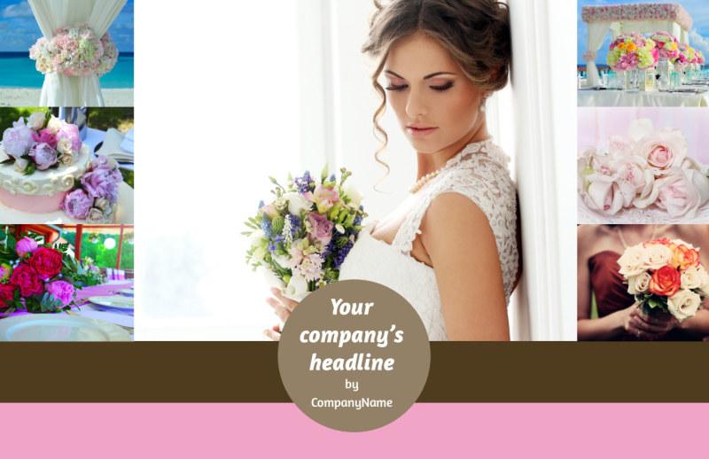 Wedding Florists Postcard Template Preview 2