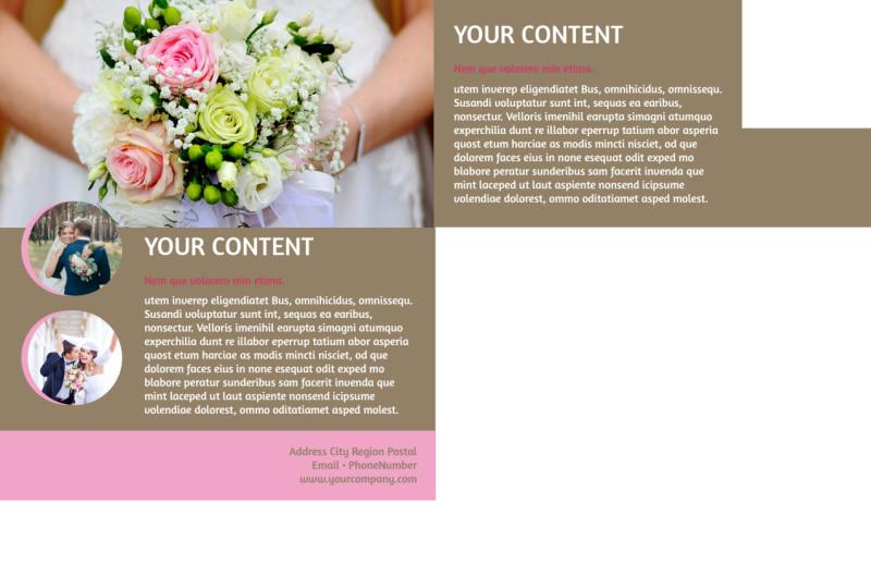 Wedding Florists Postcard Template Preview 3