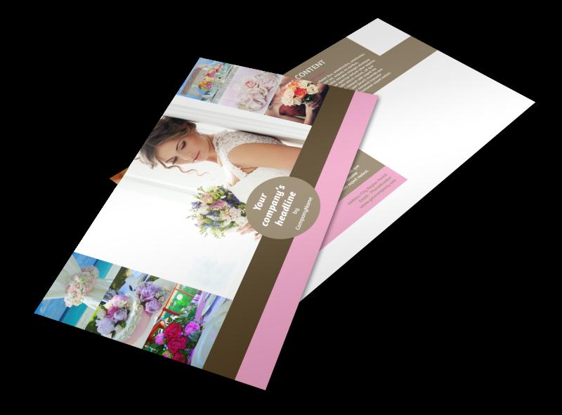 Wedding Florists Postcard Template Preview 1