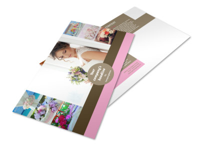 Wedding Florists Postcard Template