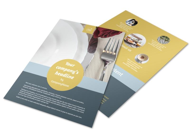 Dinnerware & Kitchen Supplies Flyer Template