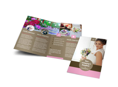 Wedding Florists Bi-Fold Brochure Template preview