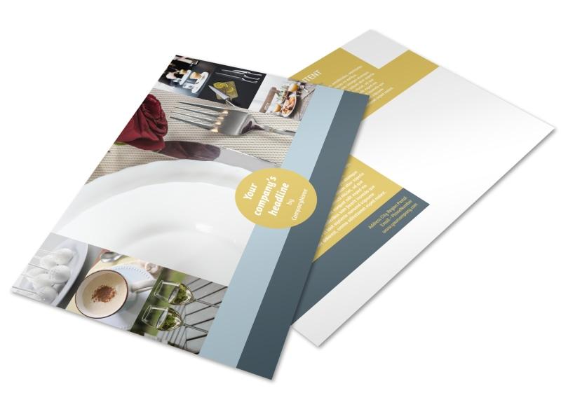 Dinnerware & Kitchen Supplies Postcard Template Preview 4