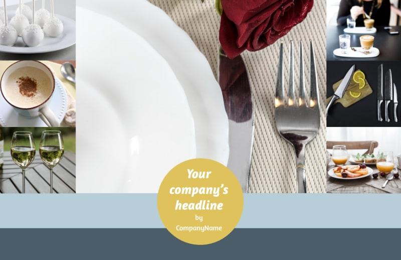 Dinnerware & Kitchen Supplies Postcard Template Preview 2