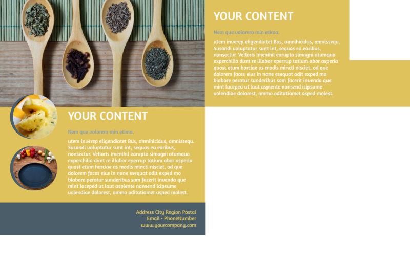 Dinnerware & Kitchen Supplies Postcard Template Preview 3