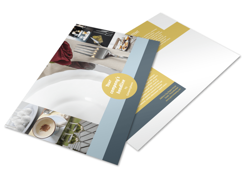 Dinnerware & Kitchen Supplies Postcard Template Preview 1