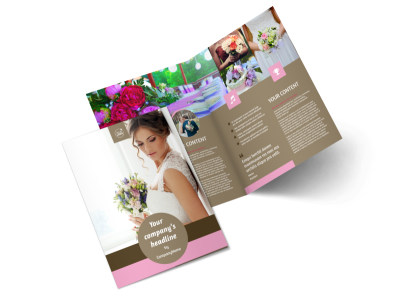 Wedding Florists Bi-Fold Brochure Template 2