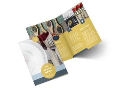 Dinnerware & Kitchen Supplies Bi-Fold Brochure Template 2