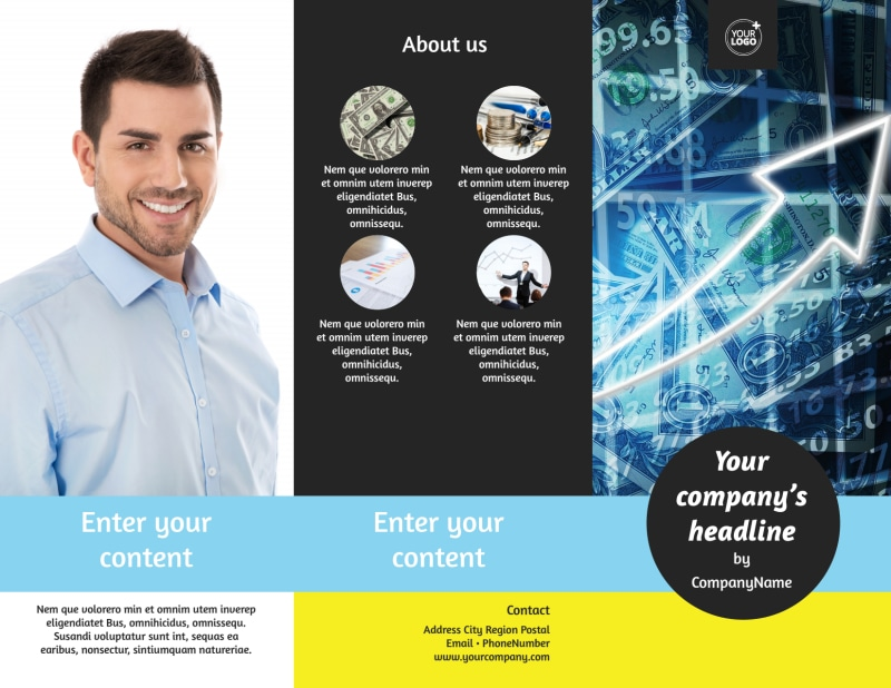 Local Financial Advisors Brochure Template Preview 2