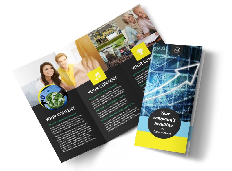 Local Financial Advisors Brochure Template Preview 1