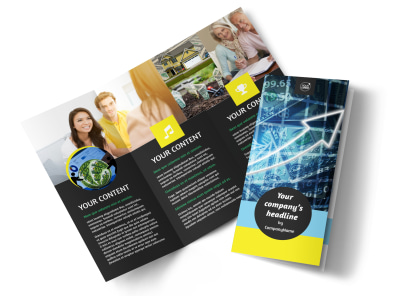 Investment Advisor Tri-Fold Brochure Template preview