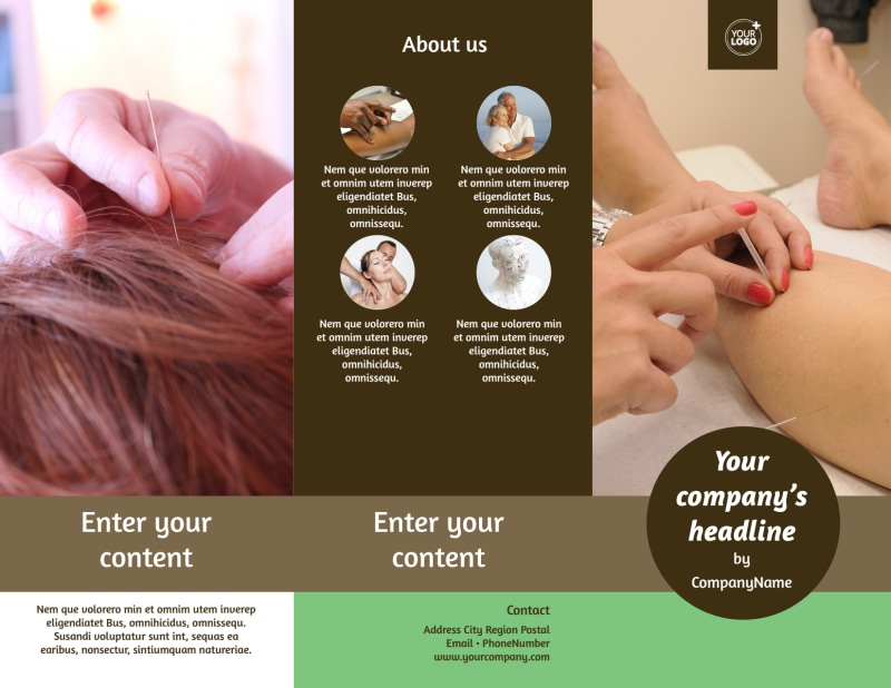 Acupuncture Clinic Brochure Template Preview 2