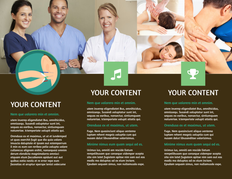 Acupuncture Clinic Brochure Template Preview 3