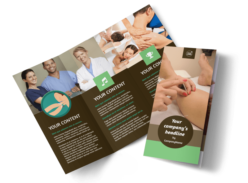 Acupuncture Clinic Brochure Template Preview 1