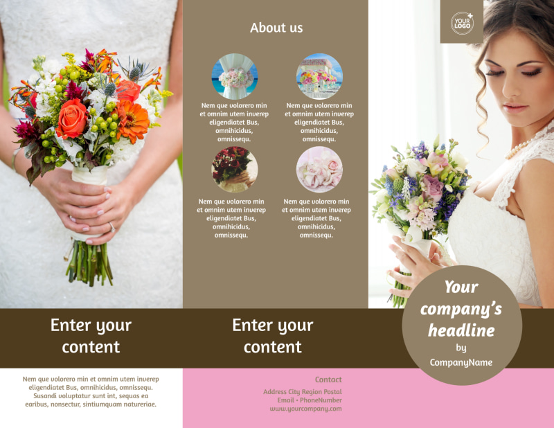 Wedding Florists Brochure Template Preview 2