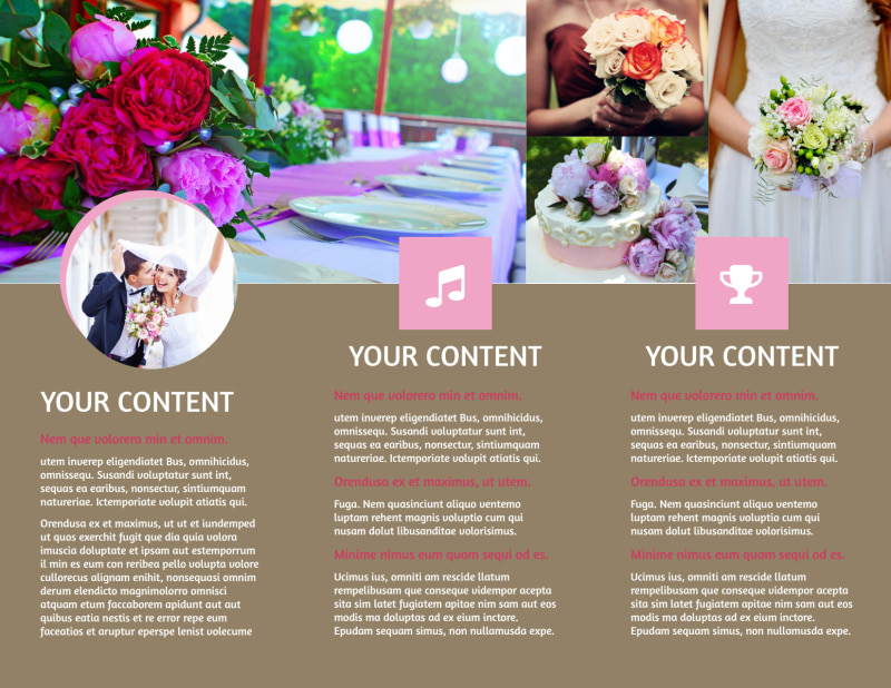 Wedding Florists Brochure Template Preview 3