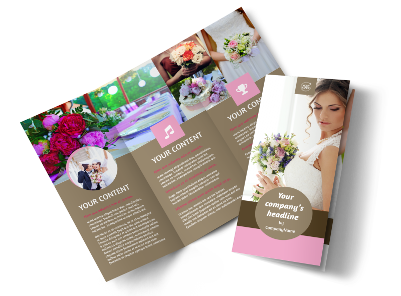 Wedding Florists Brochure Template Preview 1