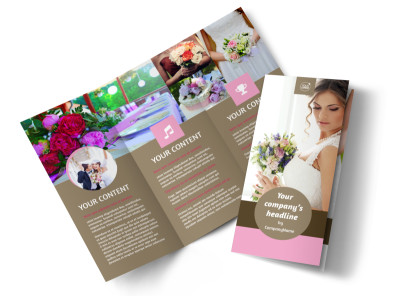 Wedding Florists Tri-Fold Brochure Template preview