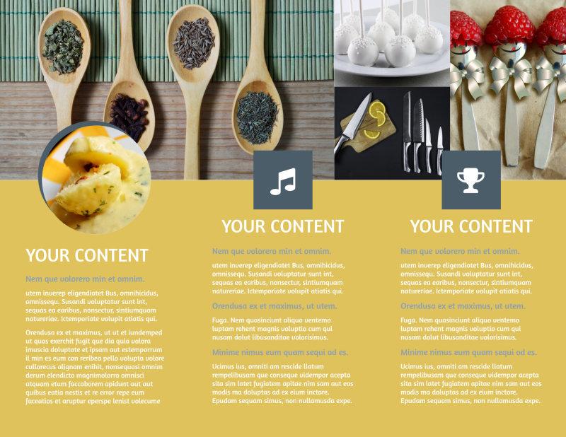Dinnerware & Kitchen Supplies Brochure Template Preview 3