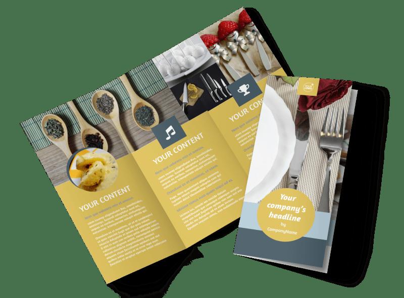 Dinnerware & Kitchen Supplies Brochure Template Preview 1