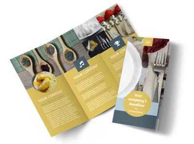 Dinnerware & Kitchen Supplies Tri-Fold Brochure Template