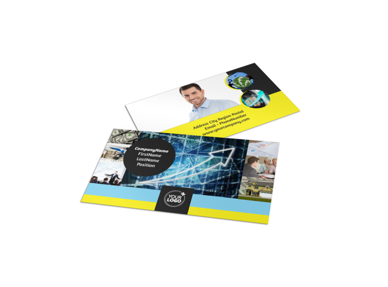 Local Financial Advisors Business Card Template Preview 1