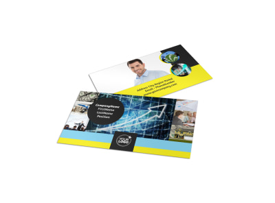 Investment Advisor Business Card Template preview