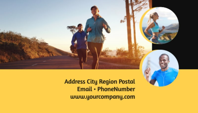 City Running Club Business Card Template Preview 3