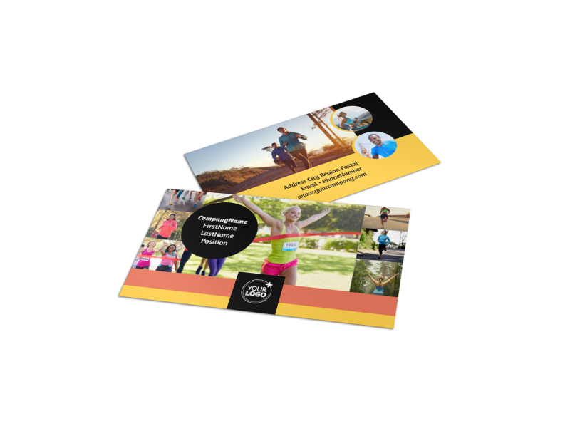 City Running Club Business Card Template Preview 1