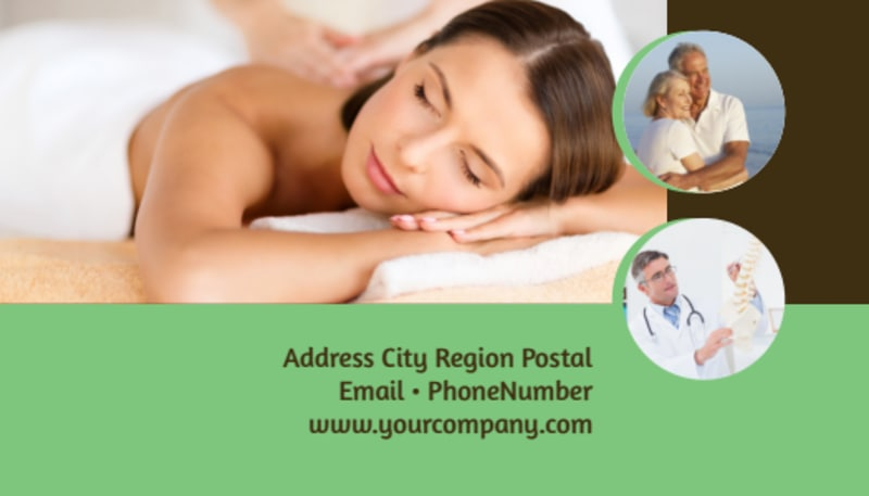 Acupuncture Clinic Business Card Template Preview 3