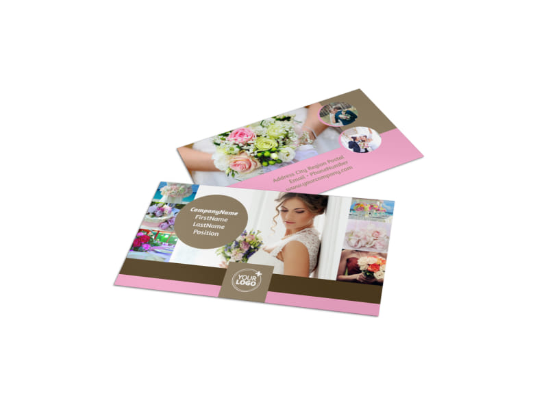 Wedding Florists Business Card Template