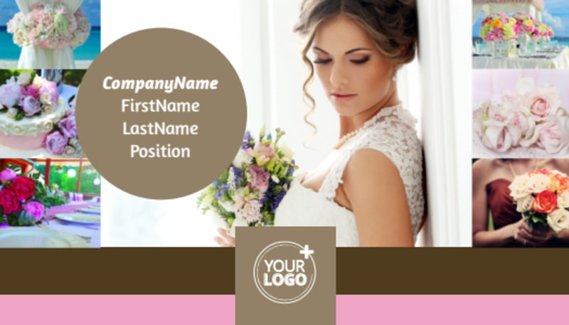 Wedding Florists Business Card Template Preview 2