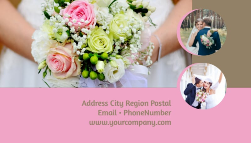Wedding Florists Business Card Template Preview 3