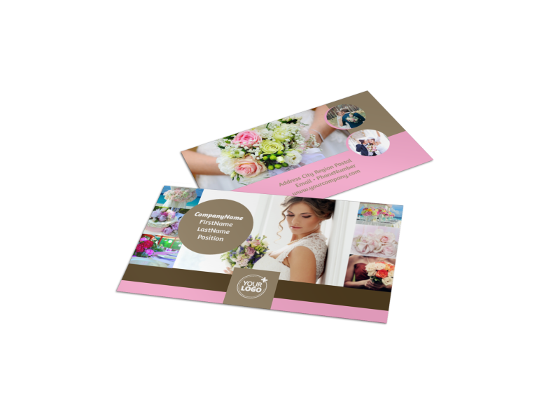 Wedding Florists Business Card Template Preview 1