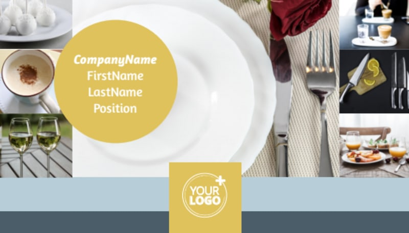 Dinnerware & Kitchen Supplies Business Card Template Preview 2