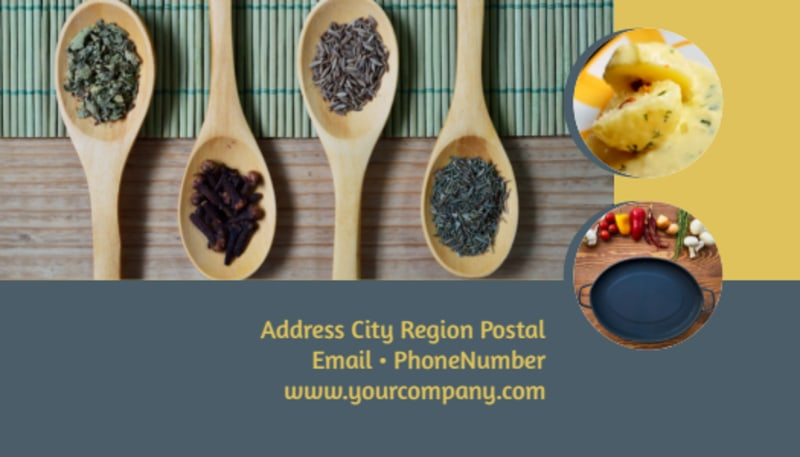 Dinnerware & Kitchen Supplies Business Card Template Preview 3