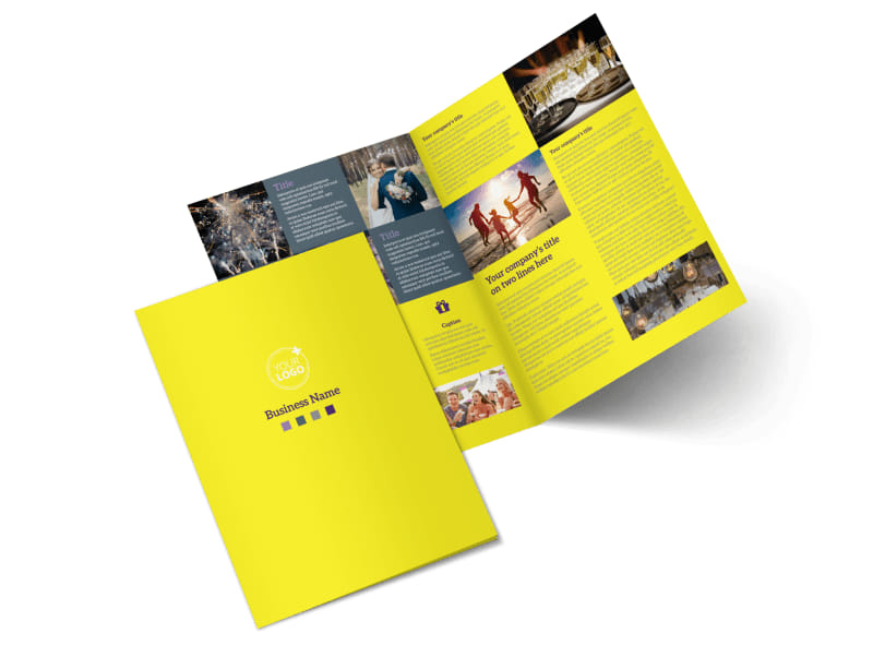 Event Photography Bi-Fold Brochure Template 2