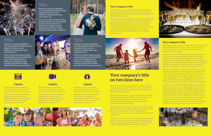 Event Photography Brochure Template Preview 3