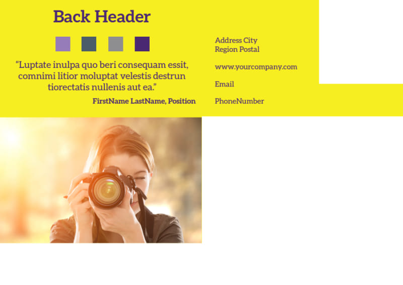 Event Photography Postcard Template Preview 3