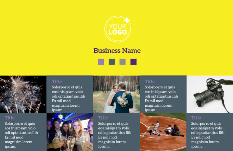 Event Photography Postcard Template Preview 2