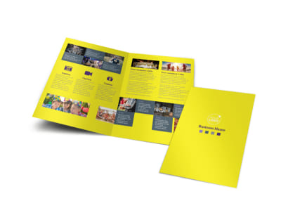 Event Photography Bi-Fold Brochure Template