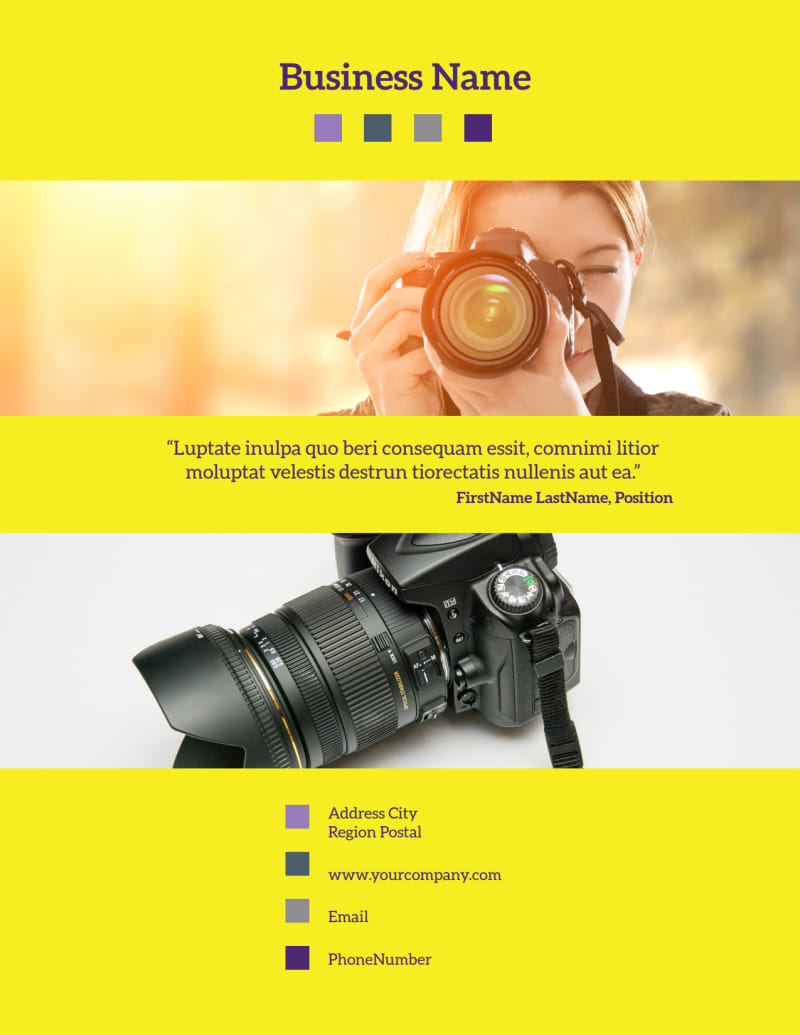 Event Photography Flyer Template Preview 3