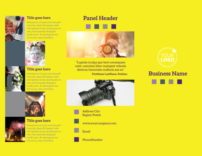 Event Photography Brochure Template Preview 2