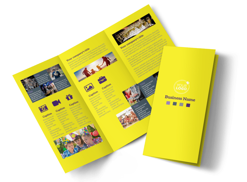 Event Photography Brochure Template Preview 1