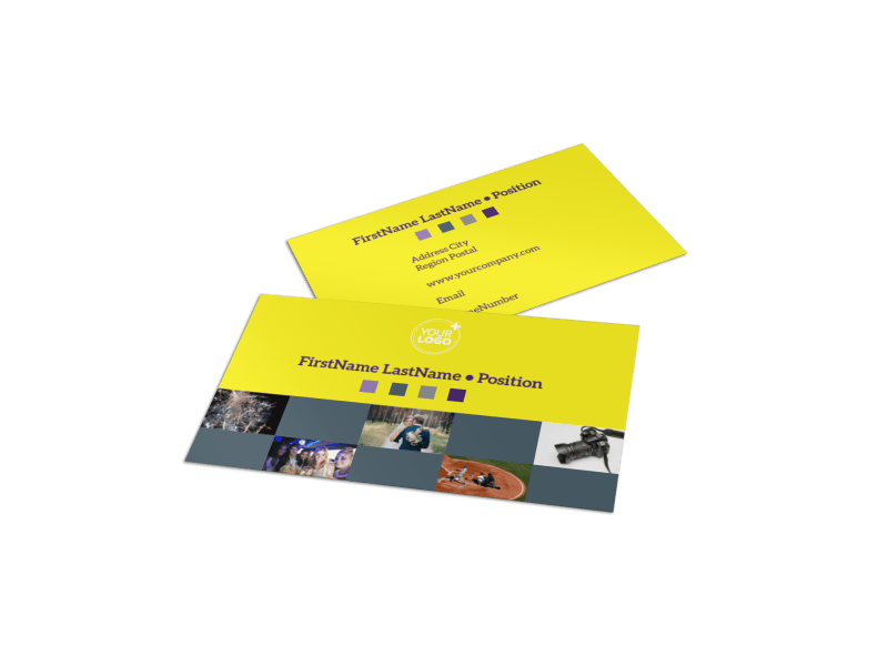 Event Photography Business Card Template Preview 1