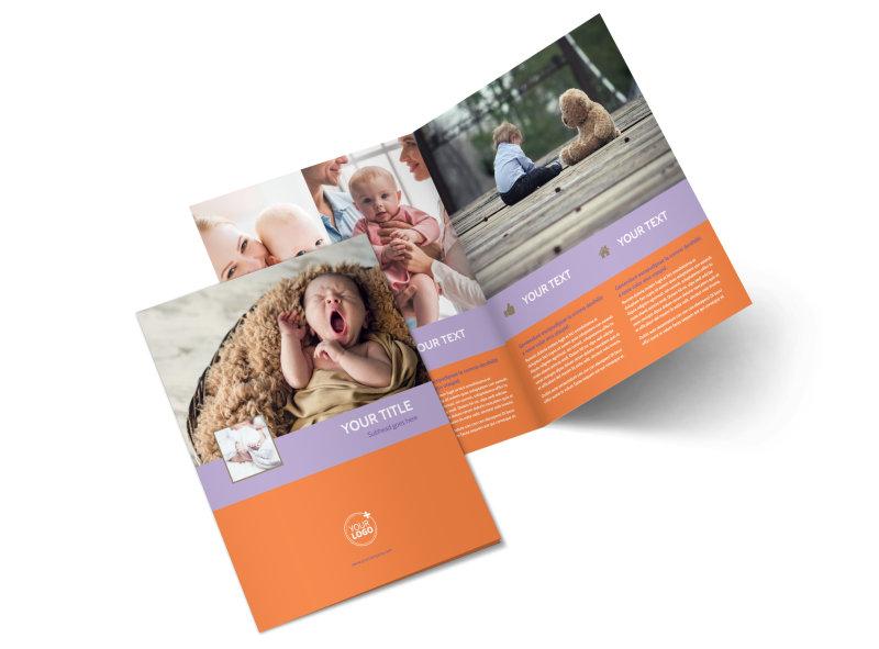 Baby Photography Bi-Fold Brochure Template 2