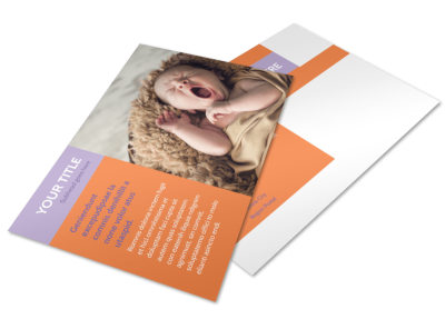 Baby Photography Postcard Template 2 preview