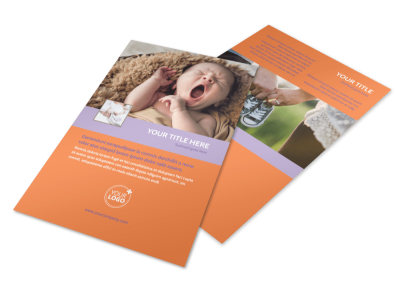 Baby Photography Flyer Template 3