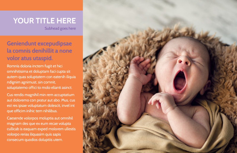 Baby Photography Postcard Template Preview 2
